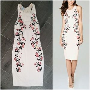 Bebe lovely embroidered midi dress